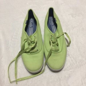 Keds neon green loafers size 8.5